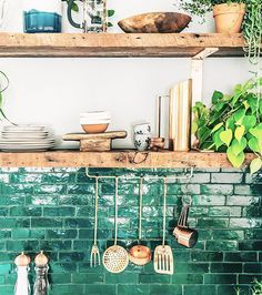 The color of the earth, trees and forests- green can bring any kitchen to life! Here are some tips to a cheery and stylish green kitchen: Find the most. home decor 51 Green Kitchen Designs Küchen Design, House Design, Interior Design, Design Ideas, Design Color, Design Trends, Tile Design, Simple Interior, Word Design