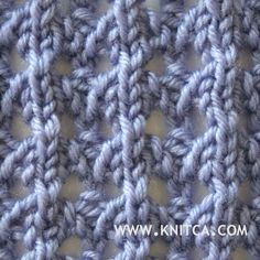 Right side of knitting stitch pattern – Lace 16