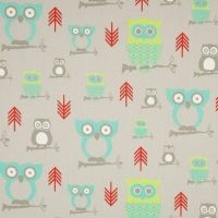 1 Yard, Owl Hooty Twill Harmony in Aqua and Grey by Premier Prints Owl Fabric, Retro Fabric, Owl Baby Shower Decorations, Sewing Hacks, Sewing Crafts, Red Turquoise, Aqua, Premier Prints, Toss Pillows