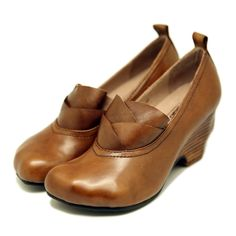 108.99$  Watch here - http://aimm3.worlditems.win/all/product.php?id=32791416686 - Designer Spring Womens Brown Pumps Sale Genuine Leather Ladies 6CM Heel Shoes Fashion Handmade Women Black Wedge Shoes Ruffles
