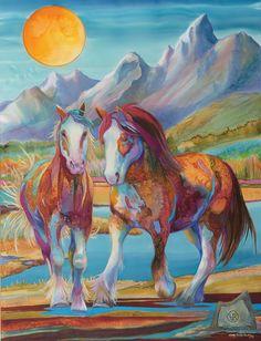 "Big Sky Journal - Artist of the West: Western Versatility | Nancy Cawdrey, ""Rosol's Rock Ride"" | Dye on Silk | 53"" x 40"""