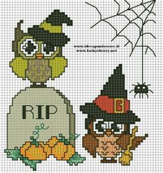 Halloween Owls cross stitch