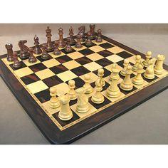 Sheesham Exclusive Chess Set, WW Chess, India-China, 40SE-EBM, by WorldWise Imports