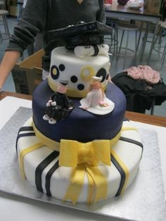 Purple, Black and Gold grad Cake By steph_cakes on CakeCentral.com