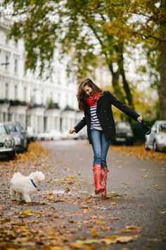 Red Rain Boots - The Londoner