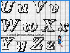 Mais gráficos de monogramas! Da talentosa Melinalupa, obrigada por compartilhar seus dons divinos! beijinhos! Cross Stitch Alphabet Patterns, Embroidery Alphabet, Letter Patterns, Needlepoint Patterns, Embroidery Fonts, Hand Embroidery Patterns, Cross Stitch Charts, Cross Stitch Embroidery, Plastic Canvas Letters