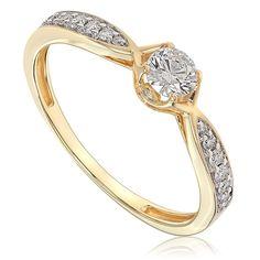 Pierścionek zaręczynowy z diamentami z żółtego złota P0565ZB Models, Engagement Rings, Jewelry, Fashion, Jewerly, Ring, Templates, Enagement Rings, Moda