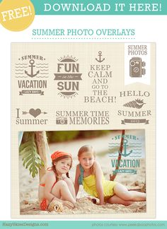FREE Summer Photo Overlays for Photographers!   #overlays #photographer #photography #templates #photoshop
