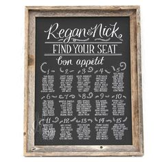 Seating chart for wedding 18 x 24 canvas by MoulageCollection, $98.00