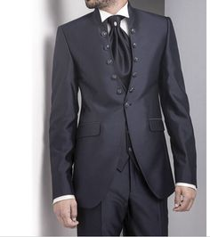 Popular Black Groom Tuxedos Wedding Business Formal Men Suits Work Office Wear #Unbranded #OneButton