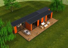 We are one the leading container design and container production company in Europe. Sea Container Homes, Building A Container Home, Container House Design, Tiny House Design, Tiny House Cabin, Tiny House Plans, Container Conversions, Tiny House Exterior, Shipping Container Home Designs