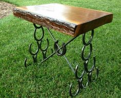 Horseshoe Table (Lengths can vary from Endtable, to Halltable sizes).