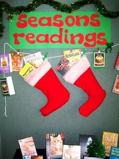 Library Displays: Season's Readings - Variation on a theme