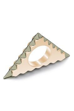 triangle ring.