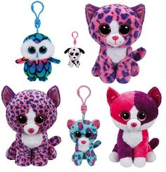 New sizes available for Claire's exclusive Beanie Boos, Pellie, Aria, Georgia, Sydney and Reagan!
