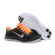timeless design 46ccc bce49 Womens Nike Free Black Orange Running Shoes Discount for Grils in Summer  2014