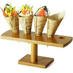 Cone and Temaki Display 9.2inch | Sushi Display Cone Holder - Buy at drinkstuff