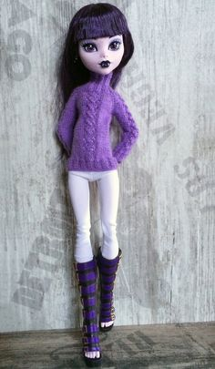 Outfit for 17 '' Lavender amethyst sweater от OrdaliaHandwork