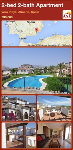 2-bed 2-bath Apartment in Vera Playa, Almeria, Spain ►€99,000 #PropertyForSaleInSpain