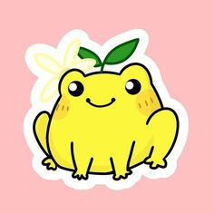 Lemon Drawing, Frog Drawing, Funny Frogs, Cute Frogs, Cute Little Drawings, Cute Drawings, Indie Drawings, Person Cartoon, Frog Pictures