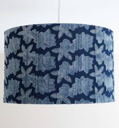 Contempory Denim Floral Lampshade