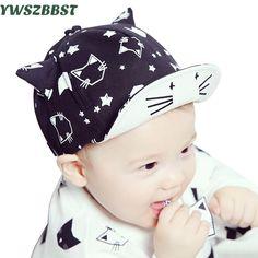 b5c0946e8 Gatos lindos Sombreros Del Bebé Gorra de Béisbol Niños Caps Primavera  Verano Bebé niños Sombreros de