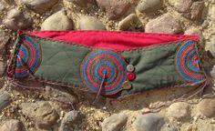 Stoffgürtel - Hippiegürtel Nr.37, oliv-rot-türkis - ein Designerstück von Majoni bei DaWanda