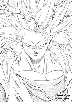 Goku Drawing, Ball Drawing, Dbz Drawings, Dragon Ball Image, Art Anime, Anime Sketch, Animes Wallpapers, Coloring Pages, Sketches