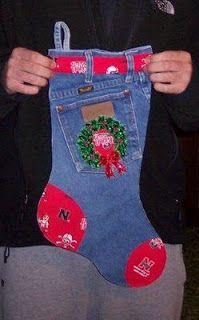 Bota Jeans de Natal