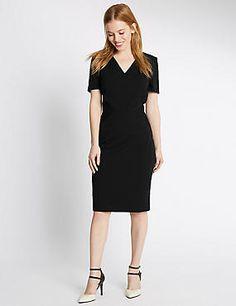PETITE Multi Stitch Lined Shift dress