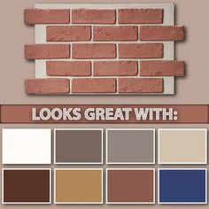 best trim color for pink brick - Google Search