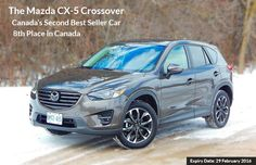 Available with two naturally aspirated gasoline engines, front-wheel-drive versions. Five-passenger #Mazda #CX-5 start at $22,995.