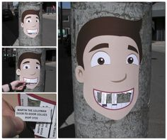 One interesting way. If this is about Dental, it will be more fitting. #Guerilla #Marketing