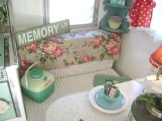 check out Amy's vintage campers for sale.. cute stuff!  cute idea's!