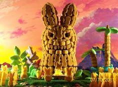 "Peeps Show V - Washington Post - ""Peep-Bunn-Tiki: The Secret of Easter Island"" runner-up Easter Peeps, Easter Candy, Peeps Recipes, Marshmallow Peeps, Pumpkin Contest, Peep Show, Easter Island, Easter Crafts, Spring"