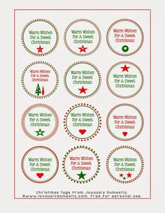 Joyously Domestic: Holiday Hot Cocoa Kits with Homemade Stir Spoons (Includes FREE Printable Labels)