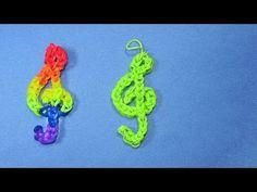 Rainbow Loom Charms: TREBLE CLEF (Music Note) Design – DIY Mommy - Rainbow Loom Fans
