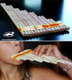 Flauta de pan reciclada