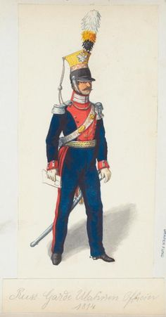 Russia; Guard Uhlans, Officer 1814