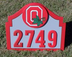 OHIO STATE Buckeyes Address Sign for Home by duranduran2946