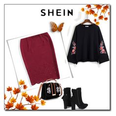 """""""Embroidery Split Sleeve Raglan Pullover"""" by zerina913 ❤ liked on Polyvore"""