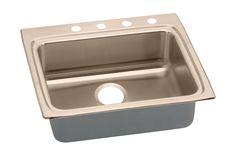 "Elkay LRAD252245-CU Lustertone 25"" Copper Drop In Lavatory Sink with Customizabl"
