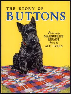 "ButtonArtMuseum.com - Merrill Archive Copy ""The Story of Buttons"" Scottie Dog #3407/1936 (M69)"