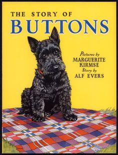 "ButtonArtMuseum.com - Merrill Archive Copy ""The Story of Buttons"" Scottie Dog #3407/1936 (M69)"