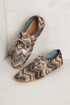 Anthropologie Brown Softside Oxfords