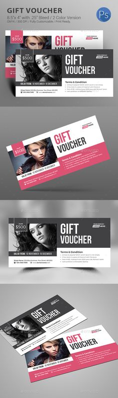 Gift Voucher — Photoshop PSD #beauty card #event • Download ➝ https://graphicriver.net/item/gift-voucher/18792121?ref=pxcr
