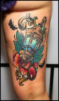 Body – Tattoo's – By Sergey Kholmogortcev in Kaliningrad, Russia. Tattoo Foto, I Tattoo, Love Tattoos, Beautiful Tattoos, Tatoos, Picture Tattoos, Girl Tattoos, Lamp Tattoo, Light Tattoo