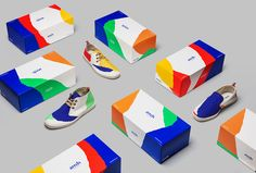 Hey Studio! sneakers and packaging