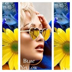 Blue Yellow, Mirrored Sunglasses, Boards, Planks