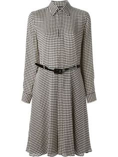 Shop Ralph Lauren Black houndstooth print shirt dress in Banner from the world's best independent boutiques at farfetch.com. Shop 300 boutiques at one address.